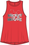 Junior Foil Head Mickey Mouse Tank,Red