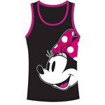 Junior Tank Top Look At Minnie, Black Pink