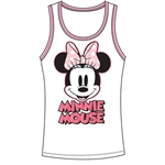 Junior Tank Top Make You Smile Minnie, Pink White