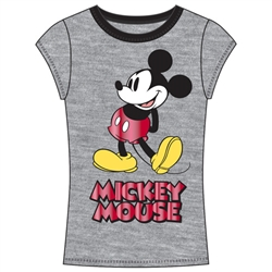 Junior Fashion Top Call Me Mickey, Gray Red