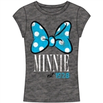 Junior Fashion Top Minnie Mouse Bow 28, Gray