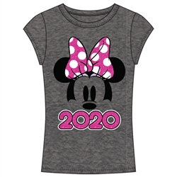 Junior 2020 Minnie Show Fashion Top, Dark Gray Pink
