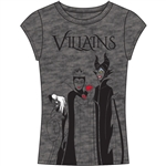Junior Fashion Top 3 Villains Cruella, Evil Queen, Maleficent, Charcoal Gray