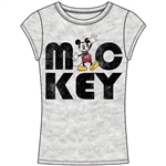 Junior Fashion Top Mickey Mouse, Gray