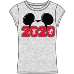 Junior 2020 Mickey Silo Fashion Top, Gray Red