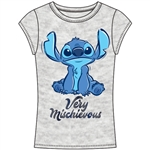 Junior Fashion Top Mischievious Stitch, Gray
