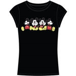 Junior Fashion Top Lounging Mickeys, Black
