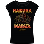 Junior Fashion Top Lion King Hakuna Matata Simba, Timon, Pumba, Black