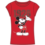 Junior Fashion Top 1928 Mickey Mouse, Red