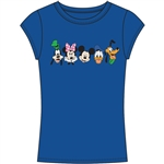 Junior Fashion Top Happy Squad Goofy, Minnie Mouse, Mickey Mouse, Donald, Pluto, Royal Blue