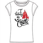 Junior Fashion Top Princess in a Castle, White