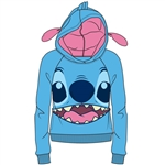 Junior Cosplay Stitch with Ears Pull Over Hoodie, Blue