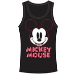 Junior Tank Top Smile Mickey, Black Red