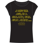 Junior Fashion Star Wars Long Time Ago Top, Black