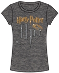 Junior Fashion Top Harry Potter Sorcerer Logo, Gray