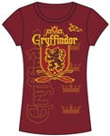 Junior Fashion Top Harry Potter Team Gryffindor, Red