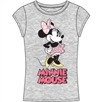 Junior Fashion Top Check Me Out Minnie, Gray Pink