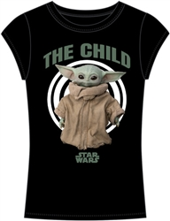 Junior Fashion Star Wars Bullseye Yoda Child Fashion Top, Black