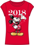 Junior Fashion Top 2018 Classic Mickey Sparkle, Red
