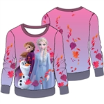 Girls Frozen II On a Journey Elsa Anna Olaf Woobie Pullover, Multi Colored