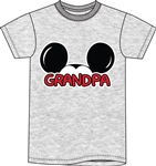 Plus Size Mens T Shirt Grandpa Family Tee, Gray