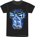 Plus 2021 Electric Mickey Glow in the Dark Tee, Black