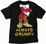 Plus Size Mens T Shirt Headless Grumpy, Black