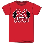 Plus Size Womens T Shirt Mom Family Tee, Red