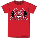 Plus Size Womens T Shirt Grandma Family Tee, Red