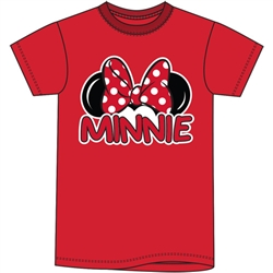Plus Size Womens T Shirt Minnie Family Tee, Red