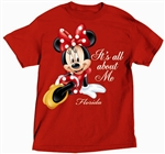 Plus Size Ladies T Shirt All About Me Minnie, Red (Florida Namedrop)