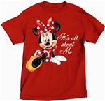 Plus Size Ladies T Shirt All About Me Minnie, Red