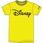 Plus Unisex T Shirt Disney Logo, Yellow (Florida Namedrop)