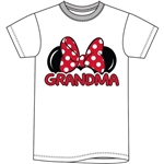 Plus Size Womens T Shirt Grandma Family Tee, White