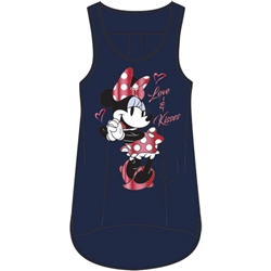 Plus Size Tank Loving Minnie, Navy Blue