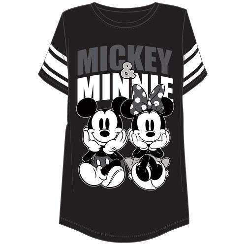 110ae81196 Plus Size Football Tee Mickey and Minnie Sitting
