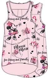 Plus Size Tank Who Is Minnie, Light Pink