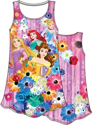 Girls Sublimated Dress Princess Garden Cinderella Ariel Belle Rapunzel