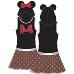 Youth Girls Jumbo Big Bow Minnie Tutu Dress, Red
