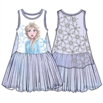 Girls Frozen II Cool Element Elsa Cape Dress, Purple