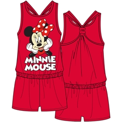 Youth Minnie Mouse Classic Racerback Romper, Red
