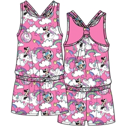 Youth Minnie Mouse Magical Clouds Racerback Romper, Light Pink