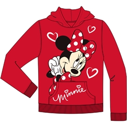 Youth Girls Minnie Love Pullover Hoodie, Red