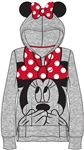 Youth Girls Minnie Ears Big Face Pullover, Gray