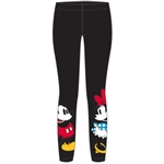 Youth Girls Mickey Minnie Eye Contact Leggings, Black