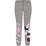 Youth Girls Cute Mix Bows Minnie Leggings, Gray Pink