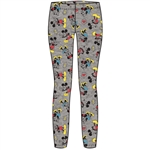 Youth Girls Happy Couple Mickey Minnie Leggings, Gray Multi Colored