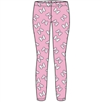 Youth Girls Mixture Minnie Bows Leggings, Light Pink