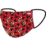 Youth Face Covering Mickey Heads, Red