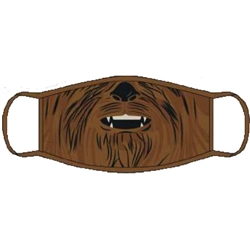 Youth Face Covering Star Wars Chewy, Brown